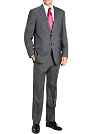 Big & Tall Ultimate Performance Wool Blend 2 Button Prince of Wales Checked Suit [T15-2397L-S]/[T15-2398L-S]