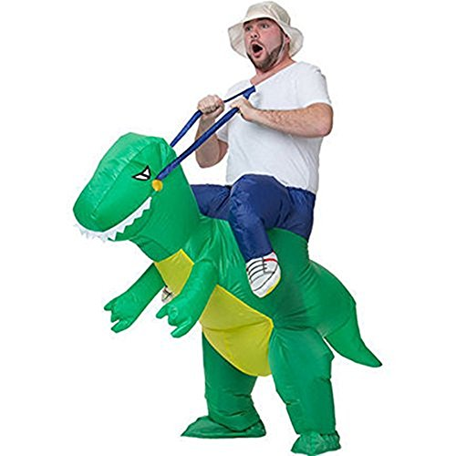 Dearhouse toys games Inflatable Dinosaur T-REX Adult aerator Fancy Dress Costume (Bull Rider Costume)