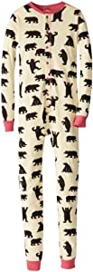 "Hatley Children'S Union Suit - Pink Bears ""A Little Bear Bum"" - Body para niños"