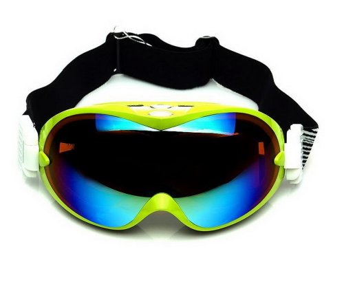 High Grade Ski Goggles Colorful Coated Lens Dual-Layers Goggles For Adult, Green