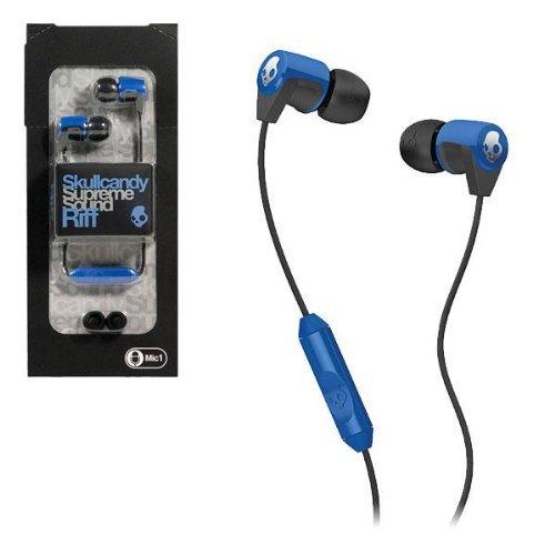 Skullcandy Supreme Sound Riff Headset For Phones - Retail Packaging - Blue/Black