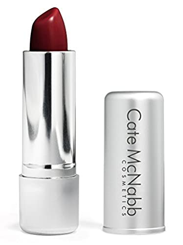 Cate McNabb Cosmetics Natural Long Lasting Lipstick, Red Red Wine, 0.16 Oz