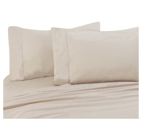 Chamois Beige 300 Thread Count Cotton Sheet Set Ca King front-993961