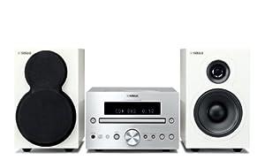 Yamaha MCR-332 SIWH Micro chaîne CD avec Station d'accueil pour iPod/iPhone Tuner FM USB Argent/Blanc