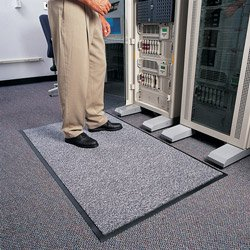 "Crown SP35 PEW 5' Length x 3' Width x 5/8"" Thickness, Pewter Stat-Zap Anti-Static Indoor Carpet Top Mat"