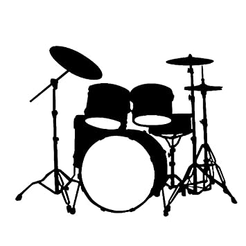 Custom Drum Set Silhouette White Drum Set Silhouette