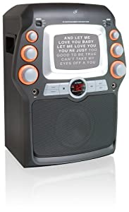 """GPX JM332B CD+G Karaoke System with 5"""" Black-and-White Monitor"""