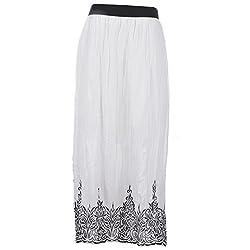 Pure Nautanki -Fully elasticated border print long skirt