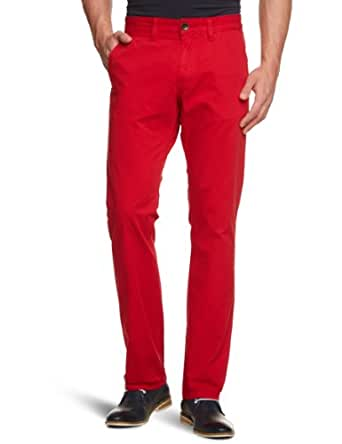TOM TAILOR Herren Hose 64007250910/Marvin Casual Chino, Gr. 30/34, Rot (4165 china red)