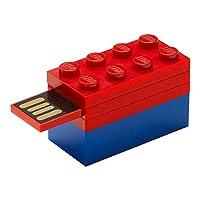 LEGO レゴ USBメモリ ブロック フラッシュドライブ (16GB, レッド LEGO USBメモリ + ブルーブロック)