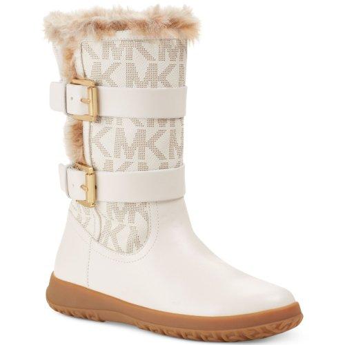 Michael Michael Kors Aaran Signature Boot (Vanilla, 8)