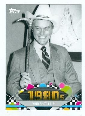 Larry Hagman Trading Card (Jr Ewing Dallas) 2011 Topps American Pie #140