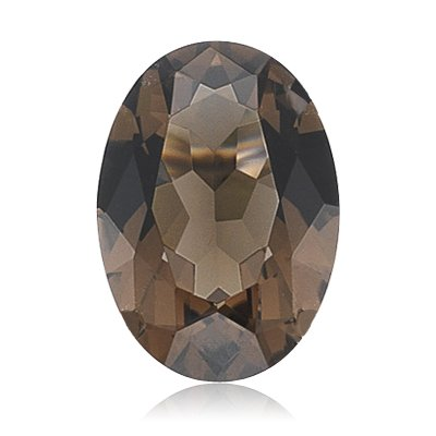 4.90 Cts of 14x10 mm AA Oval Smokey Quartz (