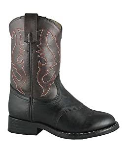 Smoky Mountain 1110 Boy's Diego Boot Black/Brown Child's 8.5