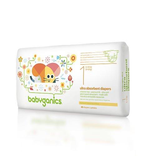 Babyganics Diapers - Size 1 - 40 Ct