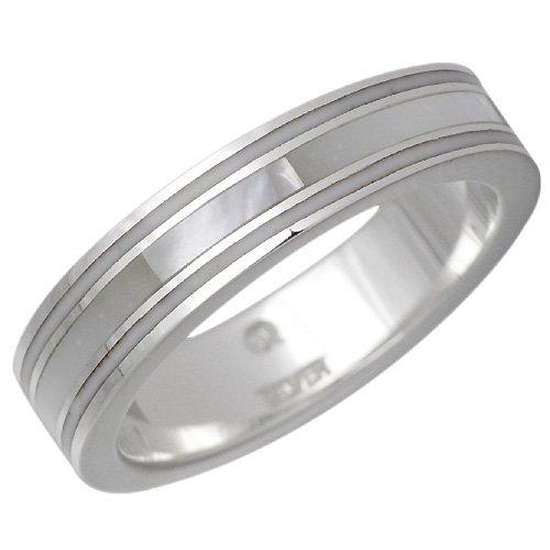 AQUA SILVER アクアシルバー ホワイトシェル シルバー リング 指輪 SV 7~21号 ASR135-WH