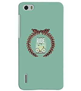 PrintVisa Quotes & Messages Life 3D Hard Polycarbonate Designer Back Case Cover for Huawei Honor 6