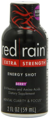 Red Rain Energy Shot, Extra Strength, Berry Flavor, 2Ounce Bottles (Pack of 12) Picture
