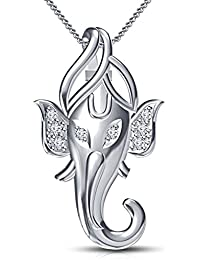 "Vorra Fashion Sterling Silver 925 Stamp Ganpati God Pendant With 18"" Chain Jewelry For Men, Boys, Women & Girls"