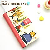 YP168-4 Picnic bear  iphone4 / iphone4s用 ダイアリー式 カバー