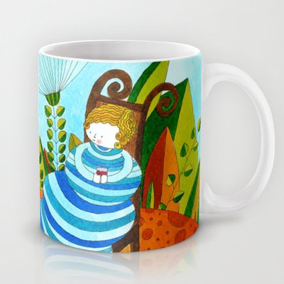 Society6 - Alice In Wonderland #5 Coffee Mug By Sandra Nascimento