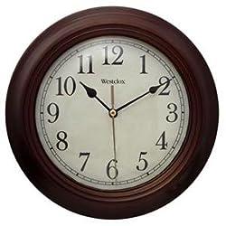 Westclox Realistic Wood Grain Wall Clock, 10