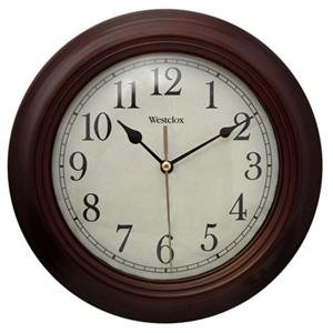 Round Wall Clock, 9 1/2 Wood