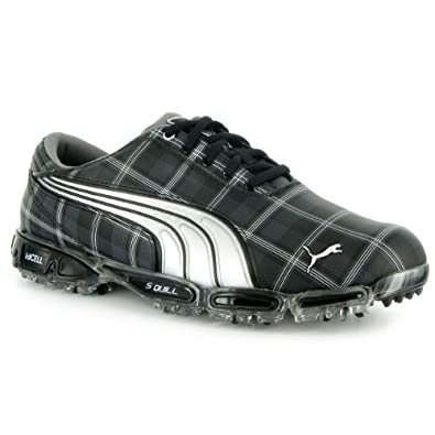 Mens Puma Super Cell Fusion Ice LE Golf Shoes 186147-02 Plaid/Black
