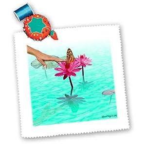 qs_13682_1 Edmond Hogge Jr Butterflies - Loving Touch - Quilt Squares - 10x10 inch quilt square