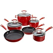 Circulon Contempo Red Dishwasher Safe Nonstick 10-Piece Cookware Set