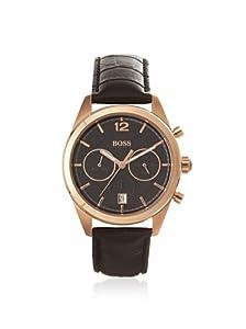 Hugo Boss 1512746 - Reloj de pulsera hombre, piel, color marrón