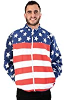 Unisex Proud American Flag Long Sleeve Crew Neck Sweatshirt