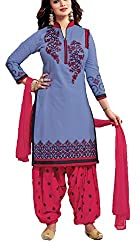 Meghali Women's Cotton Unstitched Salwar Suit (GS4_Multi-Coloured_Freesize)