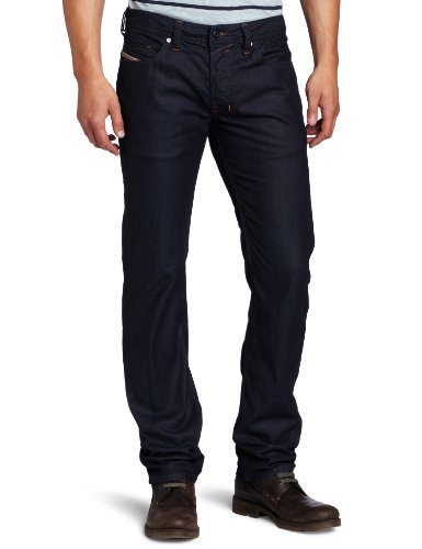 Diesel Men's Safado Slim Straight Leg Jean With Tonal Stitching by Diesel