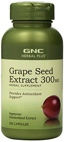GNC Herbal Plus Standardized® Grape Seed Extract 300mg 100 Capsules (2 PACKS) (Gnc Grape Seed Extract Capsules compare prices)