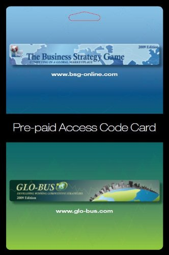 The Business Strategy Game GLO-BUS Pre-paid Access Code Card