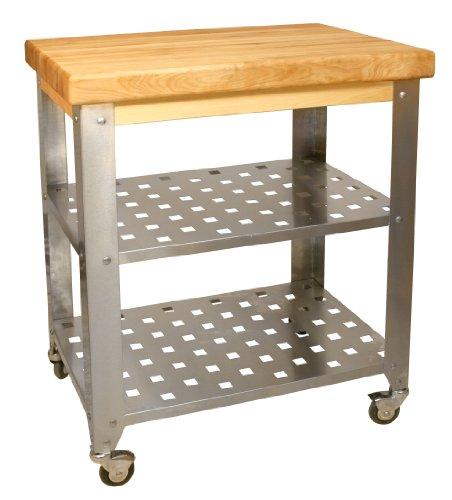 Catskill Craftsmen Stainless Steel Butcher Block Cart (30 Inch Butcher Block compare prices)
