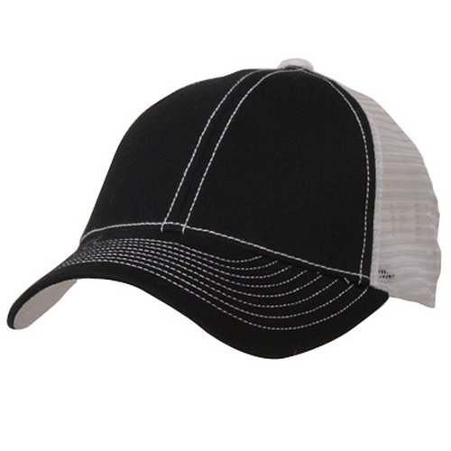 Low Profile Structured Trucker Cap-Black White (Low Profile Trucker Cap compare prices)