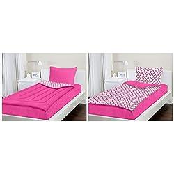 Zipit Bedding Set, Pink Clovers - Queen