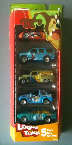 Matchbox 2003 5-pack - Looney Tunes (Red/green Pack - Daffy Duck, Bugs Bunny, Tweety, Taz, Wile E. Coyote) by Mattel