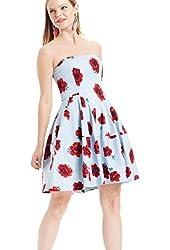 Betsey Johnson Women's Floral Strapless Dress 14
