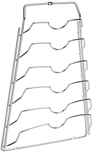 Organize It All Cabinet Door Lid Rack, Chrome Finish (Lid Organizer Rack compare prices)