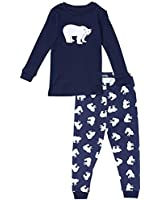 "Leveret Little Boys ""Polar Bear"" 2 Piece Pajama Set 100% Cotton (6M-8 Years)"