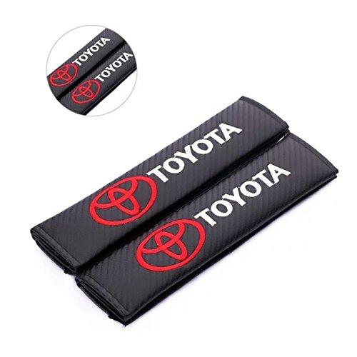 [Amooca 2pcs TOYOTA Carbon Fiber Car Styling Accessories Seat Belt Shoulders Pad Truck Cover COROLLA RAV4 Camry CROWN PRIUS REIZ VIOS YARIS] (Make Shoulder Pads Football Costume)