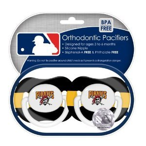 Pittsburgh Pirates 2 Pack Orthodontic Pacifiers