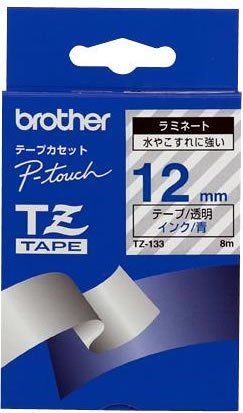 TZ-Tape TZ-133 cassette à ruban, Largeur: 12 mm Longueur de bande: 8 m, écriture bleue sur band...