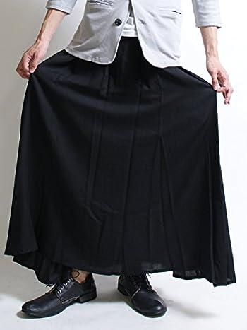 (アズスーパーソニック) AS SUPER SONICスカート メンズスカートロング マキシ丈 日本製 F ブラック