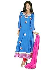 Tehzeeb Women's Faux Georgette Anarkali Salwar Suit - B016BHAMUS
