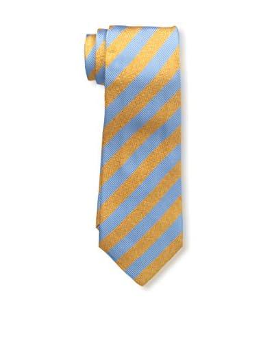Kiton Men's Striped Tie, Orange/Blue