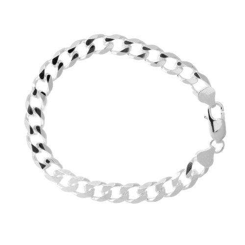 Solid Sterling Silver Cuban Link Bracelet